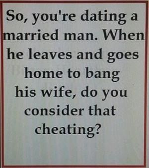 What to do when your dating a married man