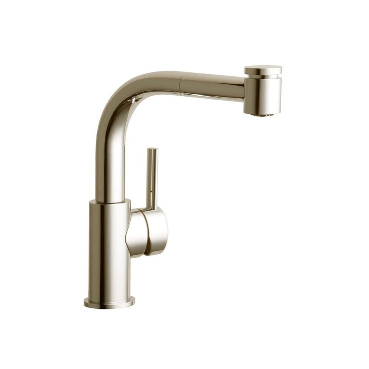 Elkay Mystic Single-Handle Pull-Out Sprayer Bar Faucet in Brushed Nickel