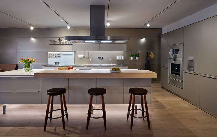 A Stunning Bulthaup Kitchen In Flint And Gravel With Sand Beige Aluminium  Wall Panelling And The Latest Gaggenau Appliances   Hobsons