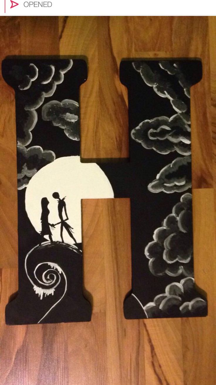 Nightmare before christmas letter by AllThingsBling2014 on Etsy https://www.etsy.com/listing/216682462/nightmare-before-christmas-letter