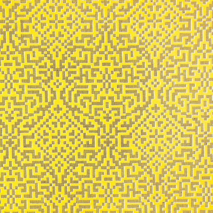 Liberty Tana Lawn Cotton Fabric Farhad Yellow 136cm - Print Cotton Lawn - Dressmaking Fabrics - Fabric