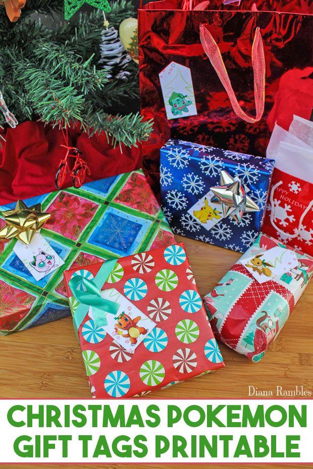Christmas Gift Tags Pinterest.Pokemon Gift Tags Free Printable Pokemon Gifts Free
