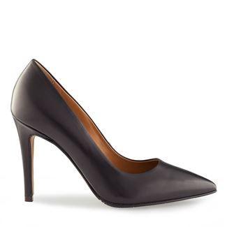 Pantofi stiletto negri 2065 piele naturala