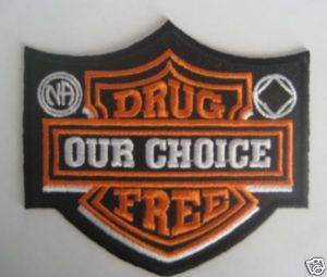 narcotics anonymous images | Narcotics Anonymous Drug Free Biker Patch | eBay