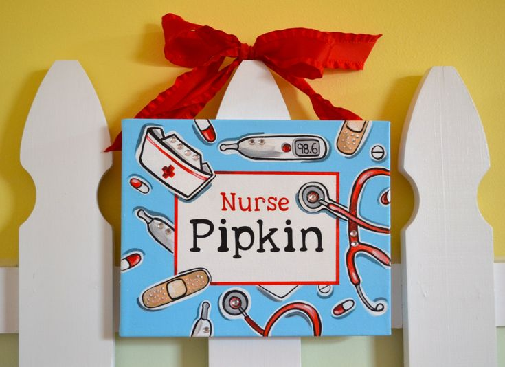 Custom Personalized Student Nurse, School Nurse, Nursing School Graduate, Nurse, Favorite Nurse, Painted Name Canvas Decor Hanging Sign by mia4art on Etsy