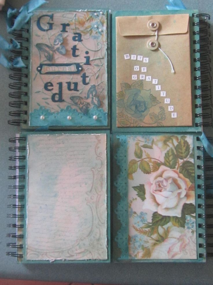 A Gratitude Journal created with all Kaszazz products