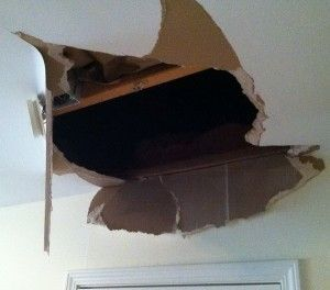 How to fix a large hole in your wall or ceiling drywall - step by step