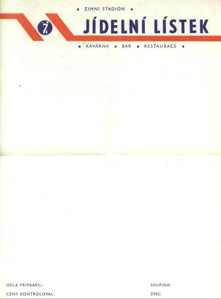Tentokrát jsme v knize Duna od Franka Herberta (vydání z r. 1988) našli prázdný jídelní lístek Zimního stadionu. Retro jak sviňa. by http://www.eshop.mlha.gr/
