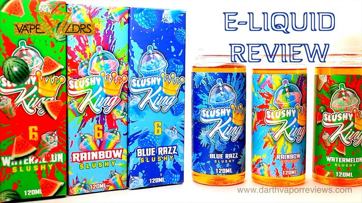 http://www.darthvaporreviews.com A review of the Slushy King e-liquid line by King E-Liquids. After the Taffy King line became a huge hit, they have now released the Slushy King line. This Max VG line is available in 120ml bottles in three nicotine levels. #vape #vaping #eliquid #ejuice #review #video #slushyking