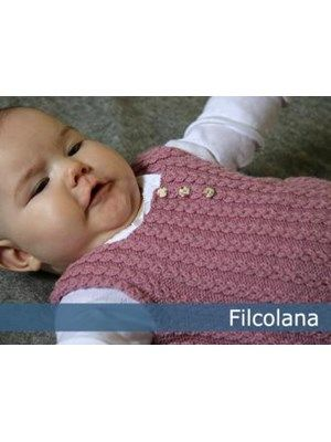 Gratis PDF opskrift Sigga fin vest / undertrøje til babyen