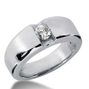 0.25 Karat Herren Diamantring aus 585er Weißgold