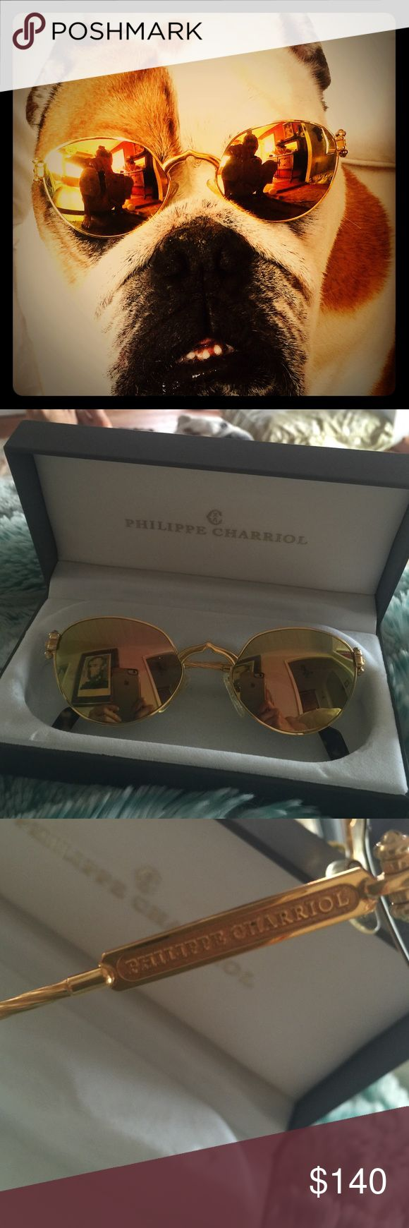 Philippe Charriol vintage gold sunglasses~ Philippe Charriol vintage gold sunglasses.....lightly worn.....hand crafted in Germany........BEAUTIFUL!!!🕶 Philippe  Accessories Sunglasses