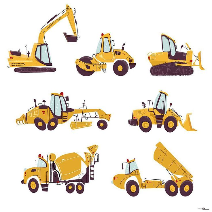 Heavy machinery for the Old Mac games. 🚜 🎲 (and the reason why I keep screaming truck names. So-wee girlfriends.) 🚜🎲 #illustration #childrensbooks #kidsbooks #kidsgames #games #vehicles #design #art #truck