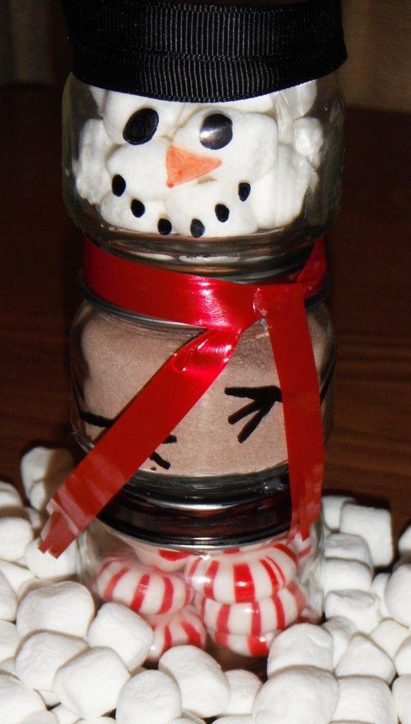 Christmas Snowman, Coco gift. Jar Snowman. Christmas Crafts