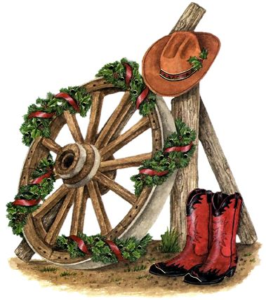 COUNTRY / WESTERN CHRISTMAS CLIP ART