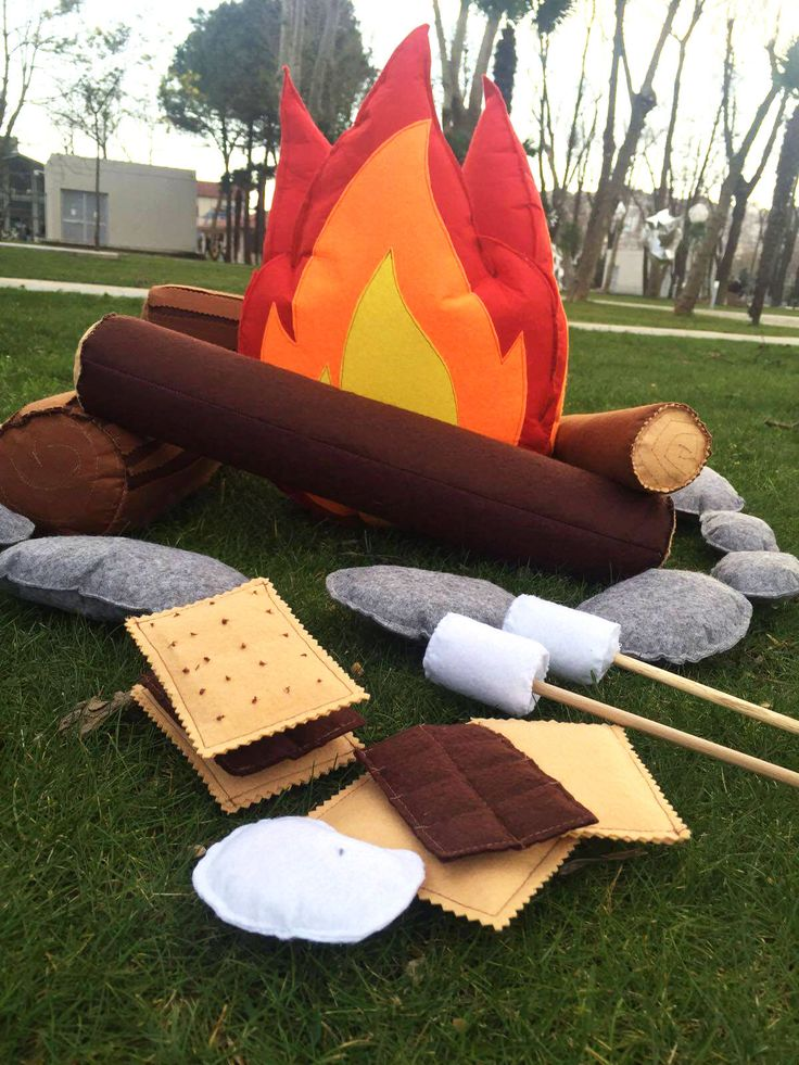 Felt Campfire | EXTRA LARGE| Kids Camping | Felt Toys | Camping Decor | Camping Theme | Play Room Decor | Kids Room Decor | Camping Gift by OXONWORKSHOP on Etsy https://www.etsy.com/listing/268205645/felt-campfire-extra-large-kids-camping
