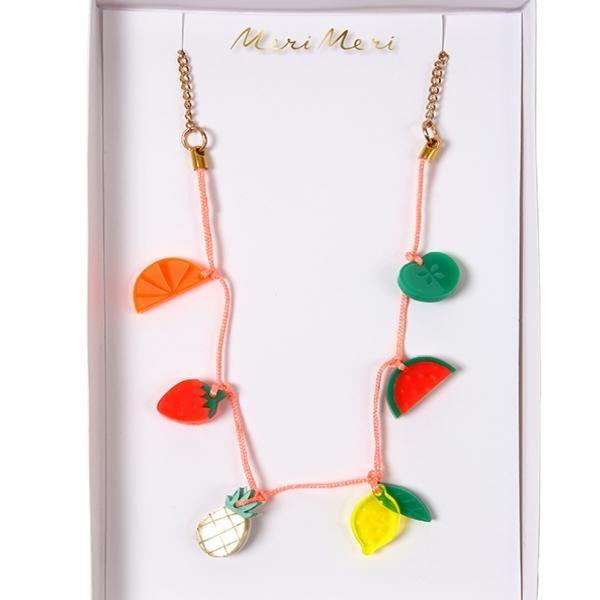 MERI MERI | Sweet Thing Necklace - Fruit Charm https://seethis.co/1yyQYY/ #funkyjewelry #uniquegifts #ubercool #summerfun #beachessentials