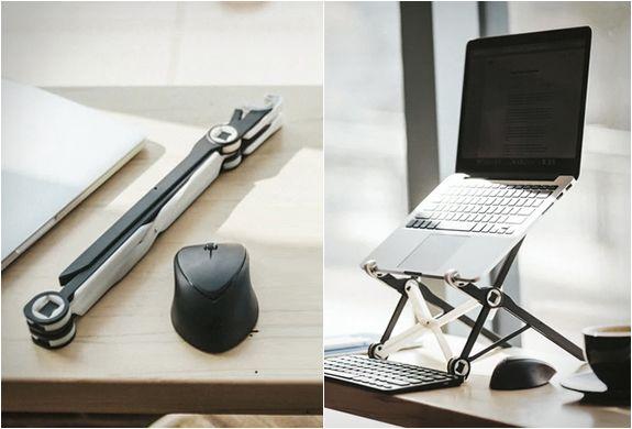 SUPORTE PARA LAPTOP - ROOST LAPTOP STAND  Acabe com a dor de coluna com este suporte para laptop inovador e ergonômico desenvolvido com o objetivo de  fornecer mais conforto ajustando o posicionamento e altura do nosso laptop.