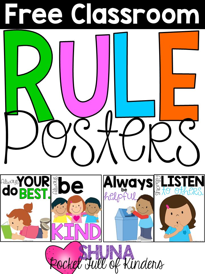 Collaborative Classroom Rules ~ Free classroom rule posters these are so cute