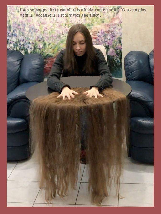 Pin By Stephen Podhaski On Girls Long Haircuts Bald Shaving Hair On Floor Playing With Hair Long Hair Styles Beautiful Long Hair