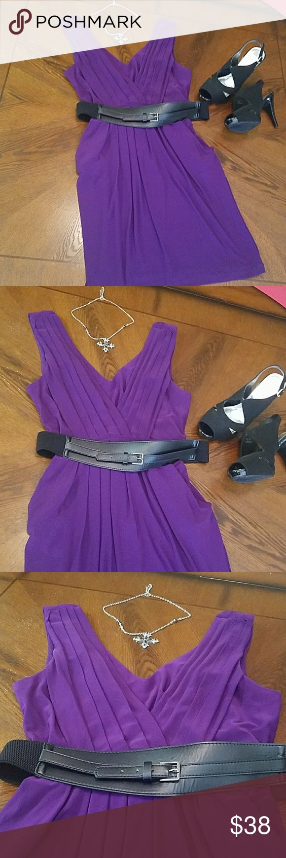 Purple dress B. Smart dress adorable worn once  purple dress plus size 16 Black belt detachable B. Smart Dresses