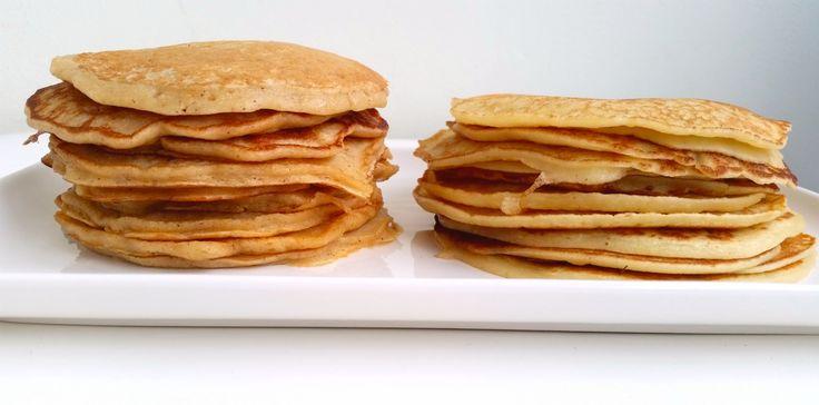 Här kommer två olika recept på Amerikanska pannkakor. Den ena är klassiska Amerikanska och de andra är en nyttig variant. Vilken kommer att bi din favorit?