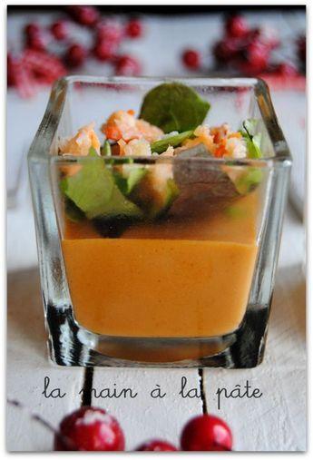 panna cotta à la bisque de homard