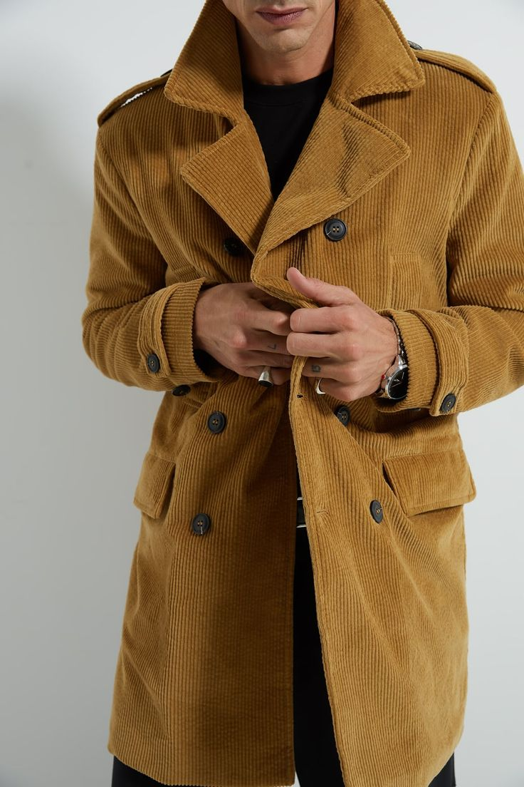 Corduroy trench coat in 2020 Trench coat, Corduroy coat