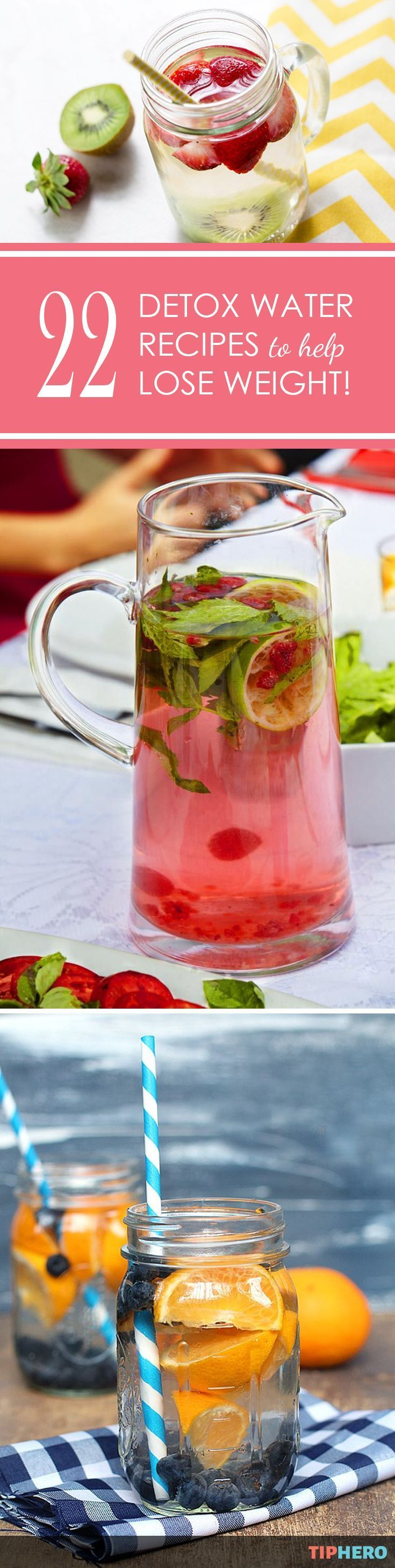 Healthy drinks & beverages recipes   The #1 most popular New Years resolution? You guessed it, eat healthier and lose weight. If getting healthy and dropping pounds is on your to-do list, what you drink can be just as important as diet and exercise. These 22 detox drink recipes from around the internet combine water, natural herbs and fruit to create delicious beverages that not only taste great but also have amazing health benefits. Healthy new year, here you come! Click for the full list.
