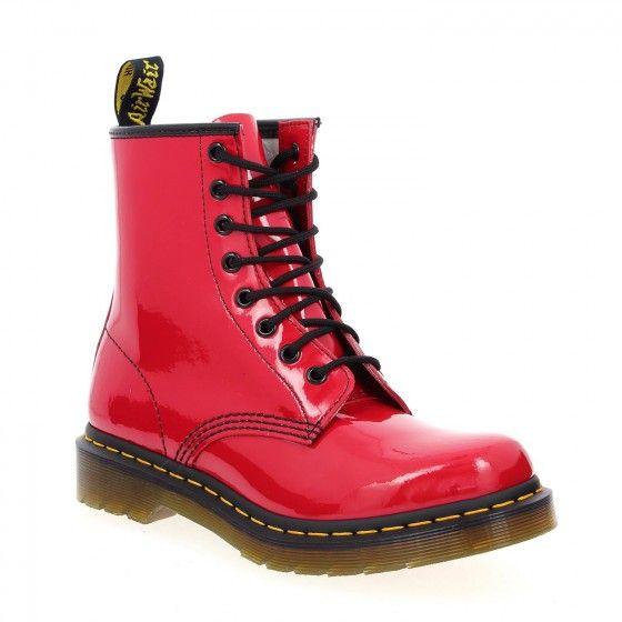 #Bessec Bottillons #DOC_MARTENS BROCQ 2 F Rouge à 125€ disponibles sur http://www.bessec-chaussures.com/... ou dans nos magasins.