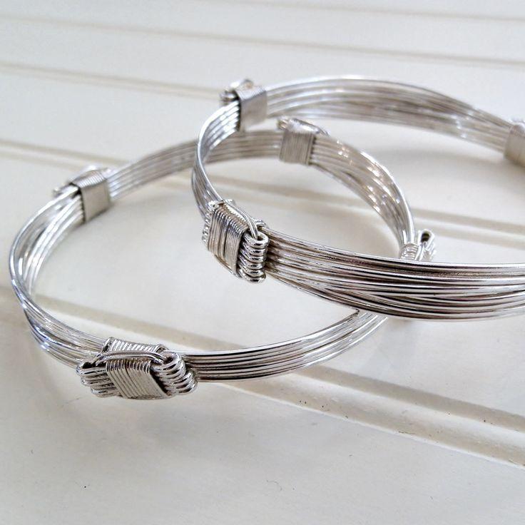 4 knot 12 strand elephant hair style Sterling Silver Bracelet