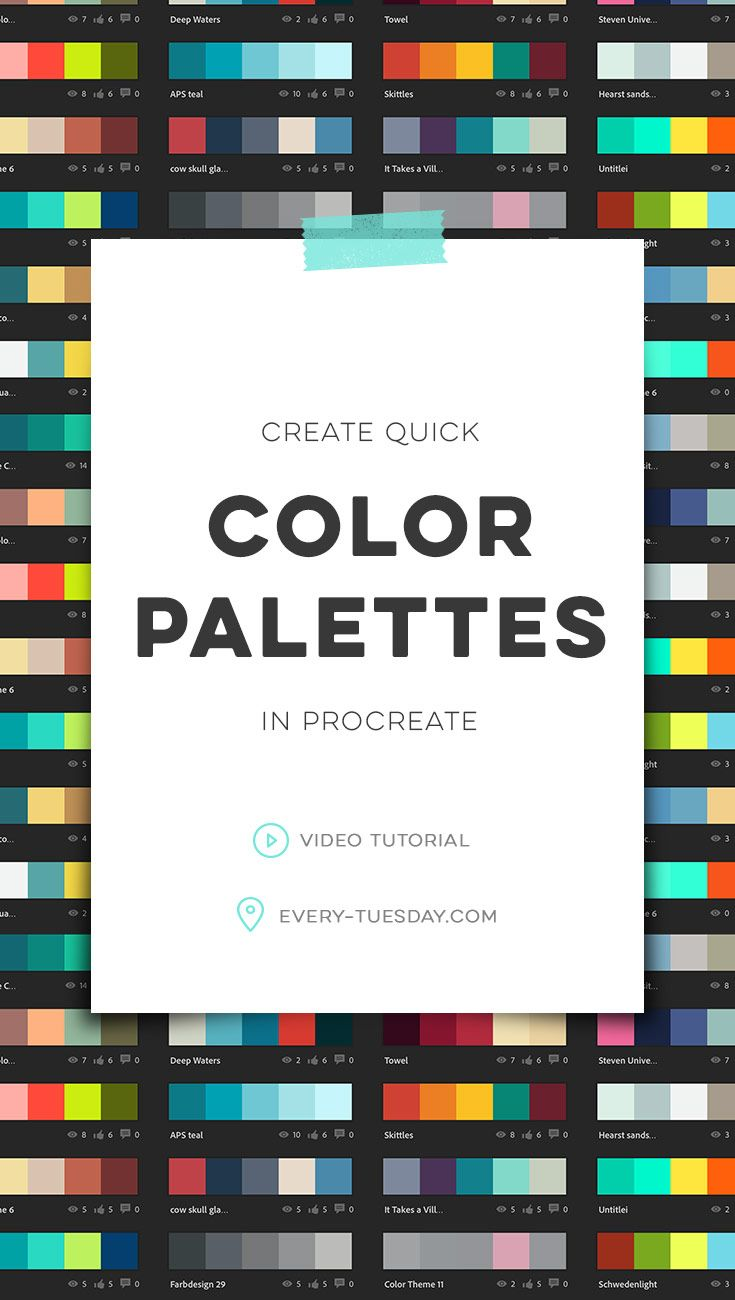 Create quick color palettes in Procreate | video tutorial: every-tuesday.com via @teelac