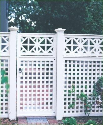 Special Chippendale Topper - The introduction of a Walpole Chippendale Topper adds flair to a handsome Lattice Fence.