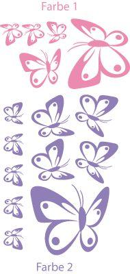 Schmetterling Schwarm 2-farbig 15 Stück Wandtattoo - Wandaufkleber von Wandgedanken.de - Wandtattoo | Wandtattoos für Wandgestaltung | Wandtattoo Sprüche