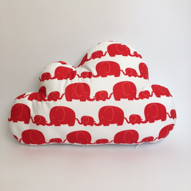 Red elephant cloud cushion