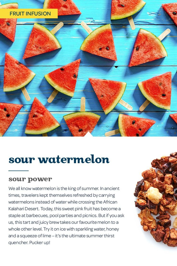 Get ready to pucker up with this refreshingly tart and juicy watermelon tisane.
