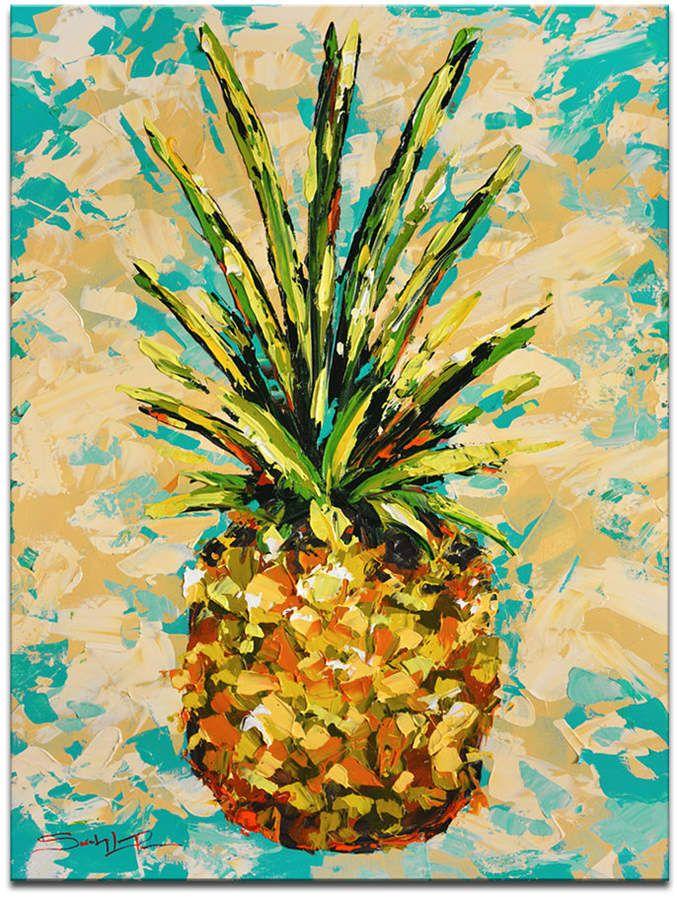 Ready2hangart Fiesta Pineapple Canvas Wall Decor Reviews Wall Art Macy S Pineapple Painting Pineapple Art Canvas Art