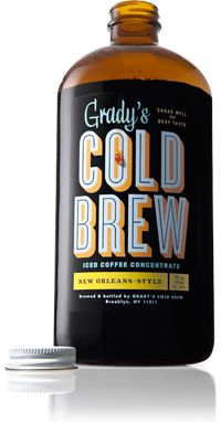 Grady's Cold Brew is freshly made in Brooklyn through an overnight process, which involves steeping a special blend of coffee and spices for two days. Drink responsibly local grounds.