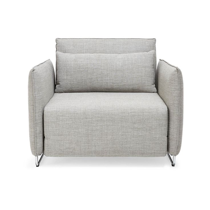Compact and ideal for urban spaces, this sleeper chair features cushions clad in wool-and-nylon upholstery set atop sleek, chrome plated steel legs. Its backrest can be adjusted into eight different positions for personalized comfort. Also available as a sofa that transforms into a bed.<br><br>Displaying the quintessential qualities of Scandinavian furniture design - Softline is clean, classic, and minimalistic.