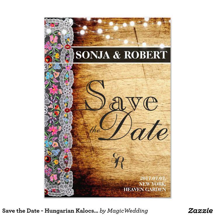 Save the Date - Hungarian Kalocsai Card