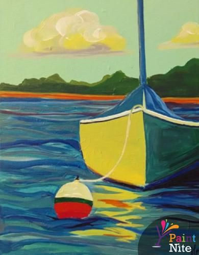 Too basic, but good base for a better painting. Paint Nite Boston | Central Wharf Co. 09/13/2015