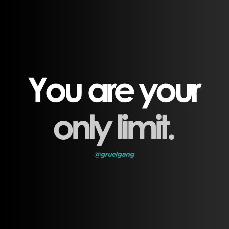 """Willpower Quote / Meme - """"You are your only limit. Only you stop you."""" We are our only obstacle. Share & Like this image on Instagram"""