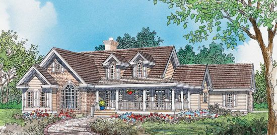 The Wisteria, Plan 538 An exciting mixture of styles, this ...