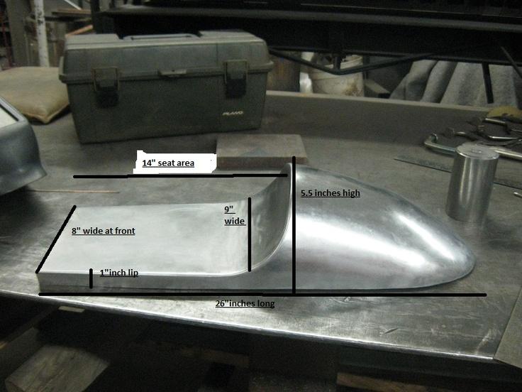 cafe racer seats: hand formed metal | cb360 cafe | pinterest