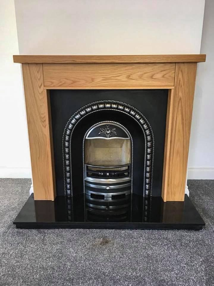Shown With A Granite Hearth And A Mourne Cast Iron Insert