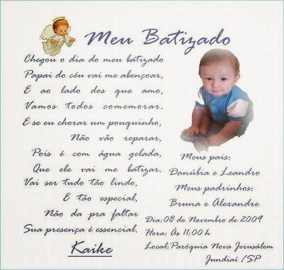 Mensagem de batizado de bebê - Toda Atual