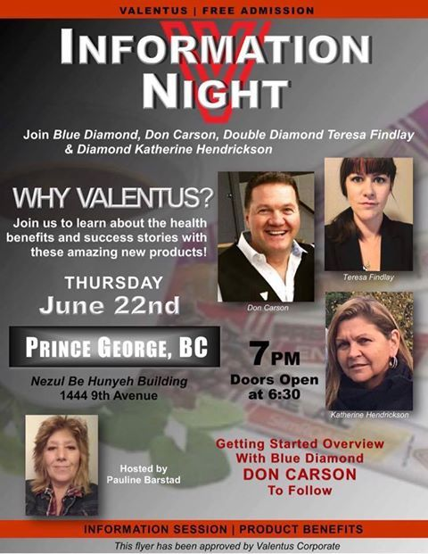 ****Attention those in Prince George, \BC and Surrounding areas! *****  It's a Game Changer!!! Prince George ~ Mark your Calendars for June 22nd ~ let me know if you will be attending this event that could be the literal life changer for you 😃  If wishing to become a Distributor like me and me interesting People, Sign up here! If you are hoping to help others and spread the word, Sign up here! If wishing to loss some excess weight or just wishing to get and stay healthy, Sign up here! Take…