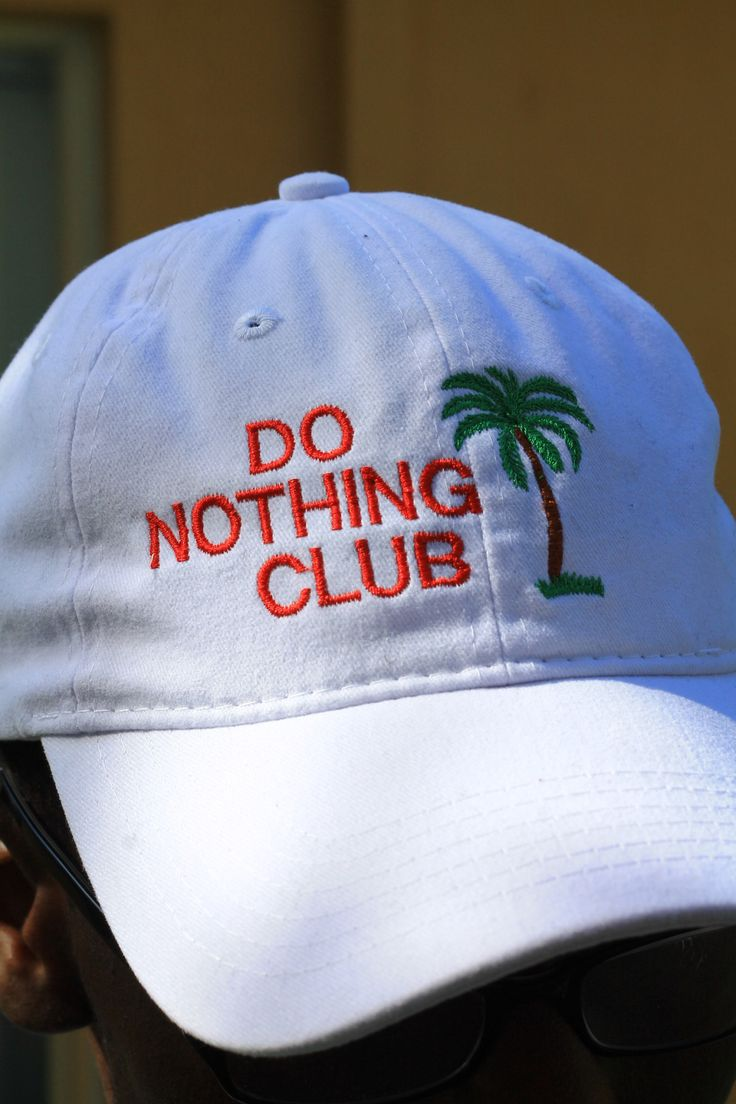 do nothing club embroidery unisex bucket cap adjustable beach hat flat dad  hat PTC 224