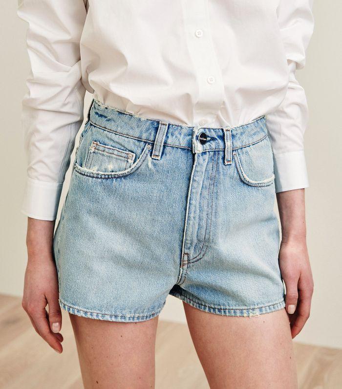 Toteme Official Online Store Vintage Denim Shorts High Waisted Shorts Denim Denim Shorts Women