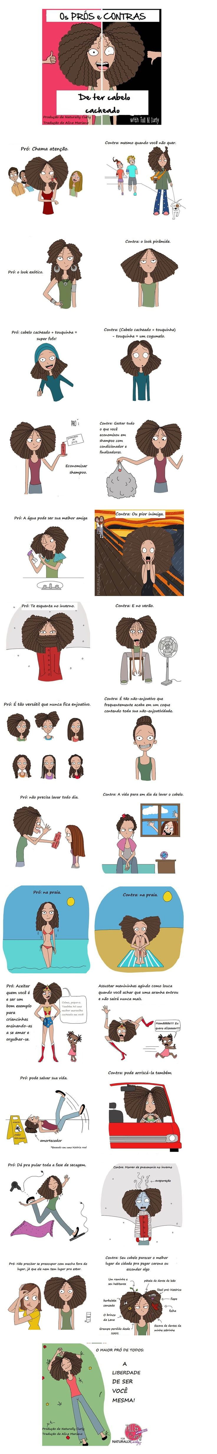Prós e Contras de cabelos cacheados.